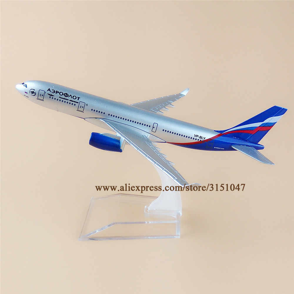 16cm Alloy Metal Air Aeroflot Russian A330 Airlines Airbus 330 Airways Airplane Model Plane Model W Stand Aircraft Gift