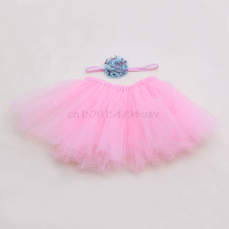 Baby-Tutu-Clothes-Skirt-Newborn-Headdress-Flower-Girls-Photo-Prop-Outfits-h055-2