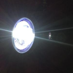 Image 3 - Светодиодный налобный фонарь для мотоцикла, универсальное освесветильник для мотоцикла 7 дюймов, 12 В постоянного тока, модный головной фонарь для скутера с мотором в стиле ретро, черный, круглый светодиод
