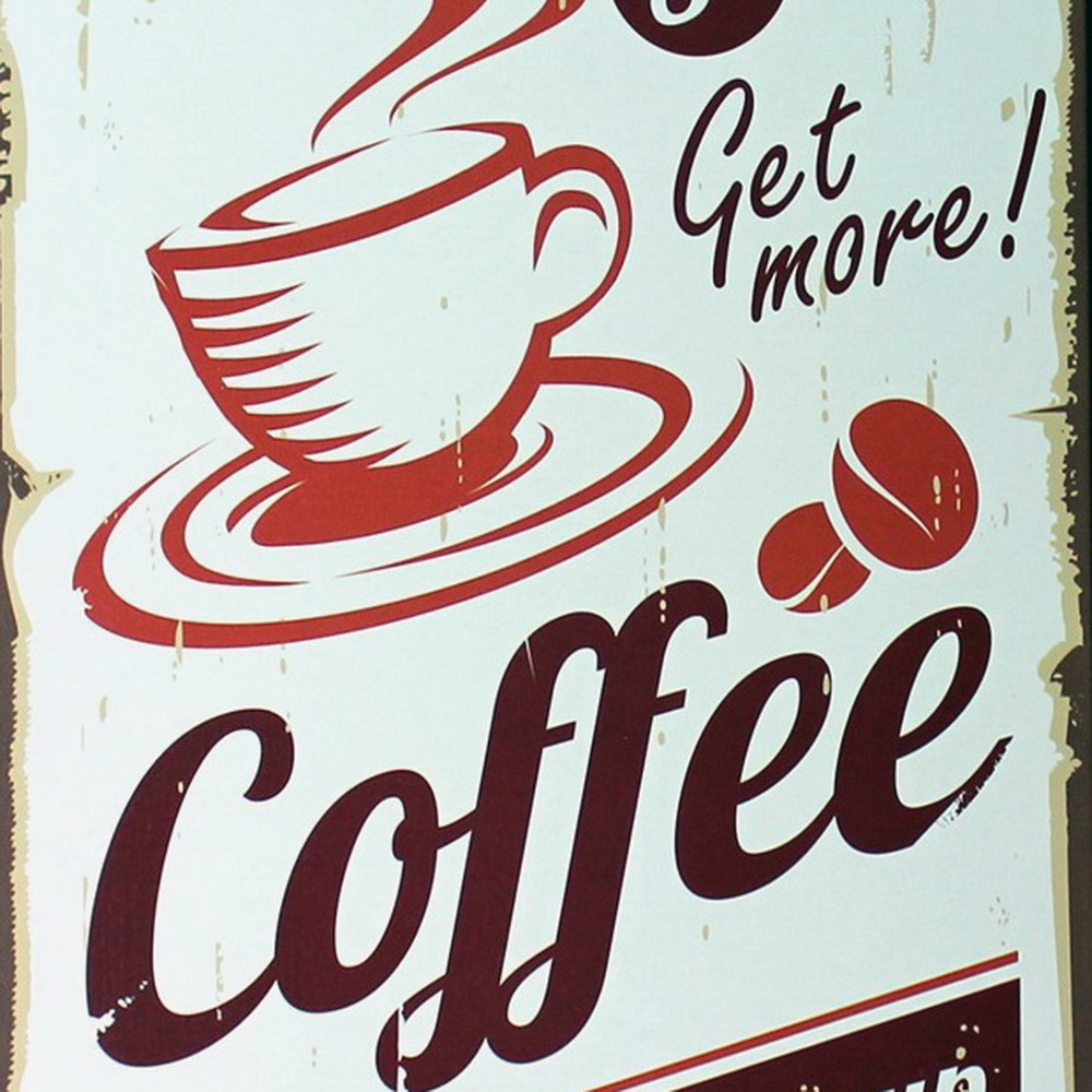 Retro Kitchen Wall Decor Aliexpresscom Buy Get More Coffee Metal Tin Sign Fashion Retro