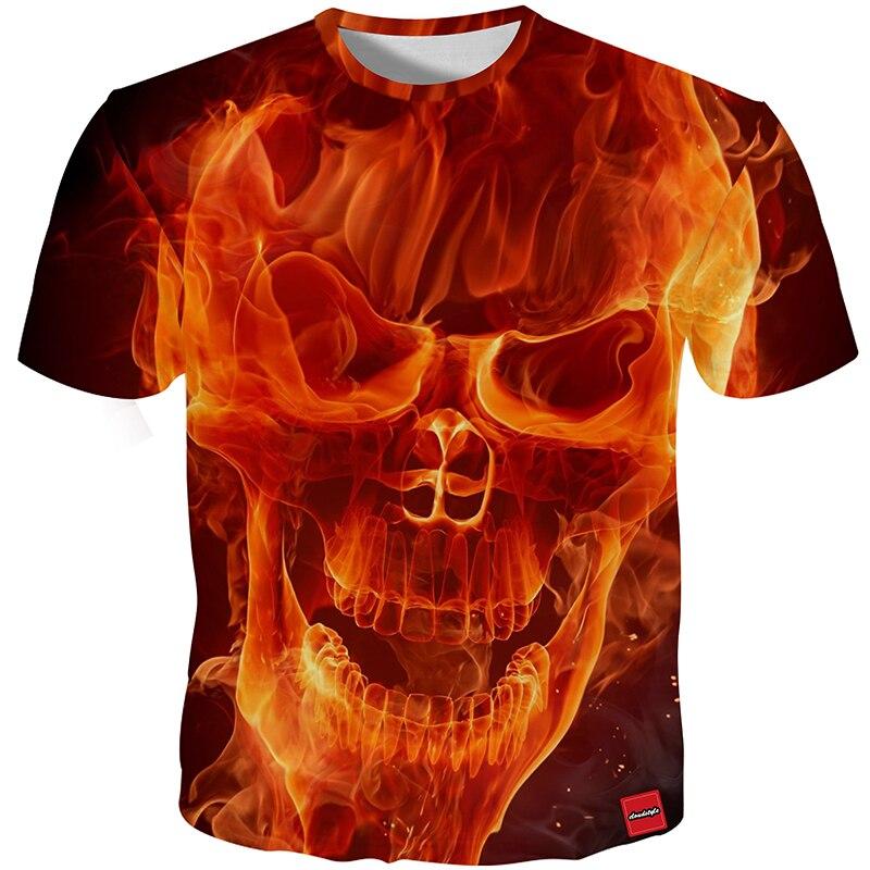 HTB1LginX1SSBuNjy0Flq6zBpVXa2 - Men's New Fashion 2018 - Quality 3D Skull Print Design Stylish Casual T-Shirt