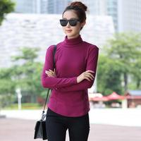 Free Shipping 2013 Women S Slim Mercerized Cotton Turtleneck Knitted Basic Shirt Sweater Wholesale And Retail