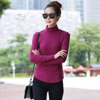 Spring autumn winter women's slim mercerized cotton turtleneck knitted basic shirt sweater plus size M-4XL Wholesale and retail