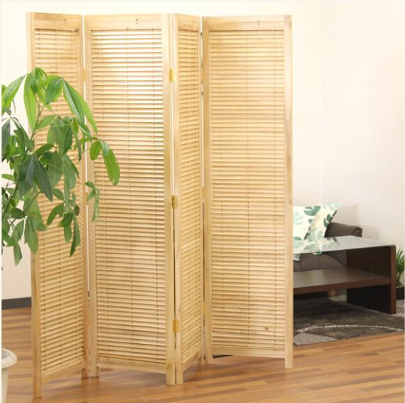 Oriental Style 4 Panel Folding Screen Room Divider