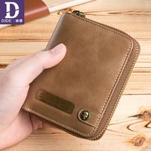 DIDE hohe qualität Brieftasche für Männer Leder Echte männer Vintage Visitenkartenhalter Geldbörse Herren Luxus Brieftasche Männlichen