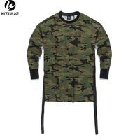 HipHop Justin Bieber Clothes Street Wear 2016 Kpop Urban Clothing Men Long Sleeve Longline T Shirt