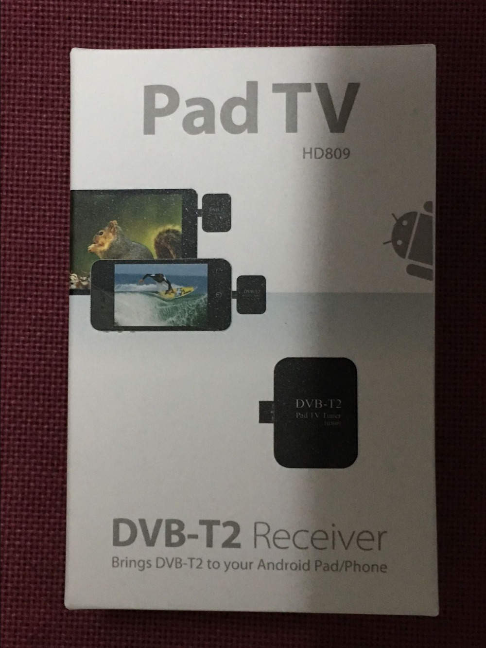2017 new micro USB2.0 1080P DVB-T2 TV dongle DVB-T2 TV stick DVB-T TV receiver for android mobile phone tablet PC with box