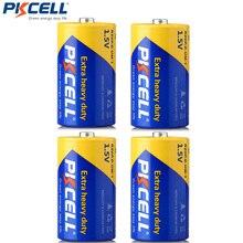 4 шт./лот батарея PKCELL R20P размера D 1,5 в сухая батарея из углеродистого цинка Супер сверхмощный аккумулятор сухие батареи для игрушек