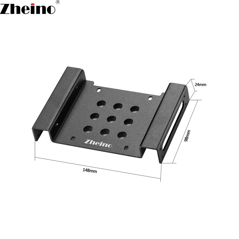 Zheino Aluminum alloy Mounting Frame 3.5 Inch to 5.25 Inch Fit for 2.5 inch 3.5 inch HDD SSD Adapter Bracket Hard Drive Holder