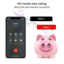 Portable Bluetooth Speaker Piggy Shaped Mini Stereo USB TF Card Wireless Speaker SP99 cky bc145 mini wireless bluetooth v3 0 docking speaker w usb pink