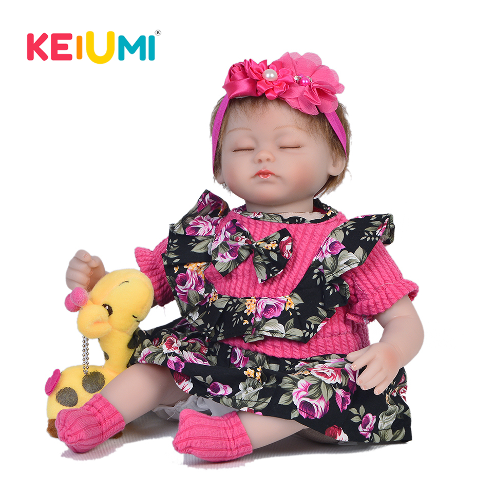 Alive 17'' 42 cm Soft Silicone Reborn Baby Girl Doll Cute Simulation Doll Baby Toy For Child Birthday Gift Brinquedos Menina