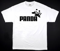 Panda White T Shirt Funny Humor Logo New Awesome All Sizes S 2XL Summer 100 Cotton