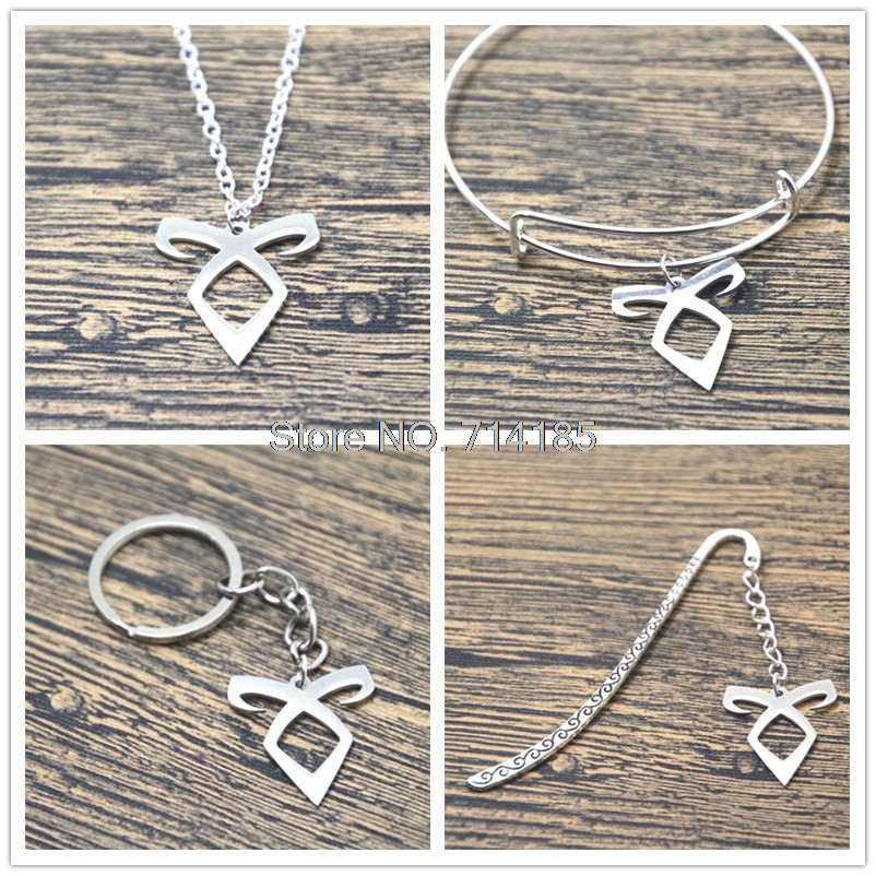 12pcs/lot The ShadowHunters inspired Angelic Power Rune Necklaces bracelets bangles keychain bookmark