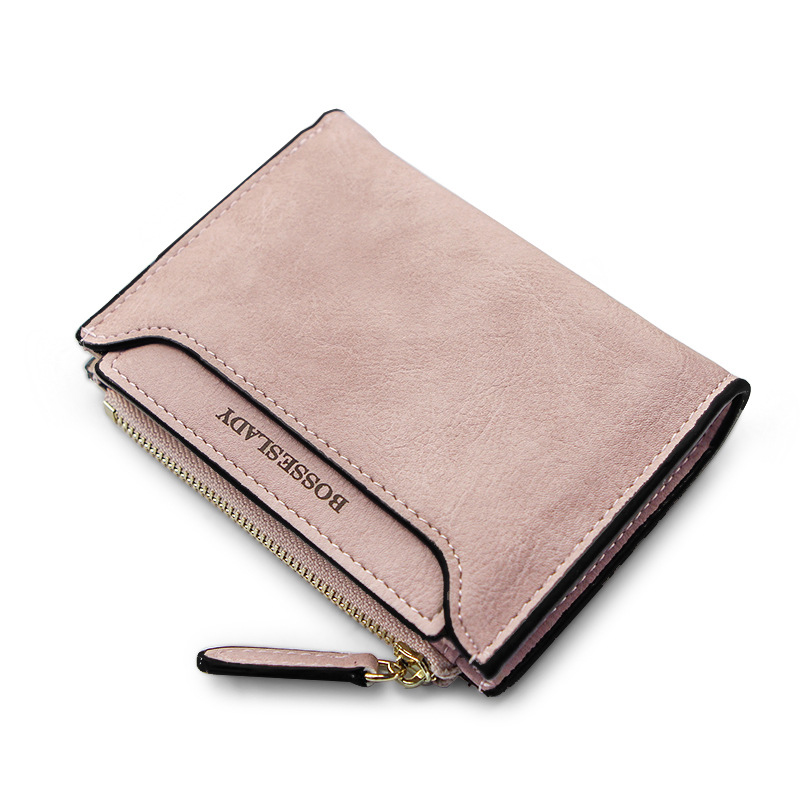 Slim Women Short Wallets Small Wallet Solid Simple PU Leather Vintage Ladies Girls Coins Purse Card Holder Carteira Fashion 2016 new pu leather hasp ladies wallet female small short purse for women for coins credit card holder dollar price carteira