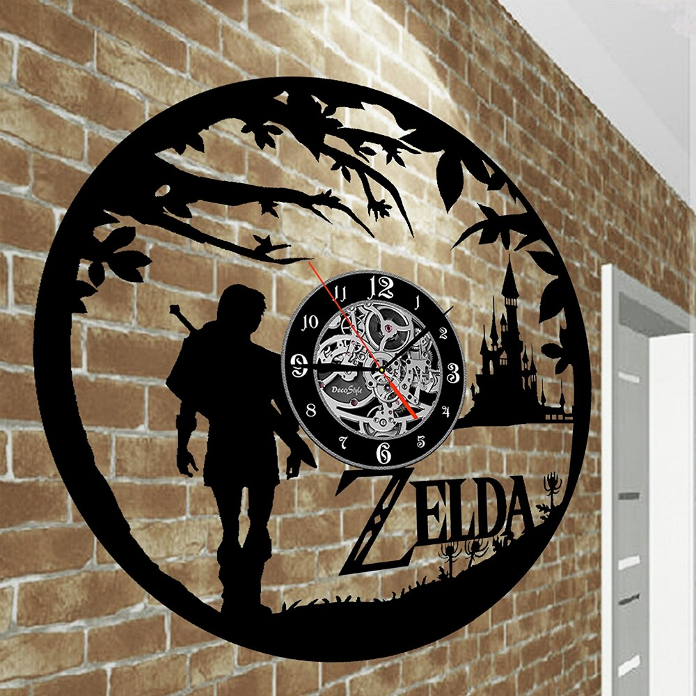 New Art Cd Vinyl Disc Wall Clock Saat Legend Of Zelda