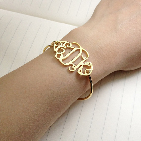 925 sterling silver name initial Monogram bracelet bangles women custom women bangles personalized name initial bracelets gift