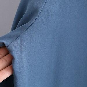 Image 5 - Blusas de gasa de verano 2XL 5XL Casual de moda de las mujeres de arco de manga larga camisas blancas sueltas de gran tamaño blusas de soporte de las mujeres
