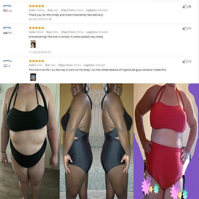 SEBOWEL Sexy Plus Size Swimwear Womens High Waist Bikini Set 2019 Summer Swimsuit Sexy Large Female Bikinis Bathing Suits 5XL 4
