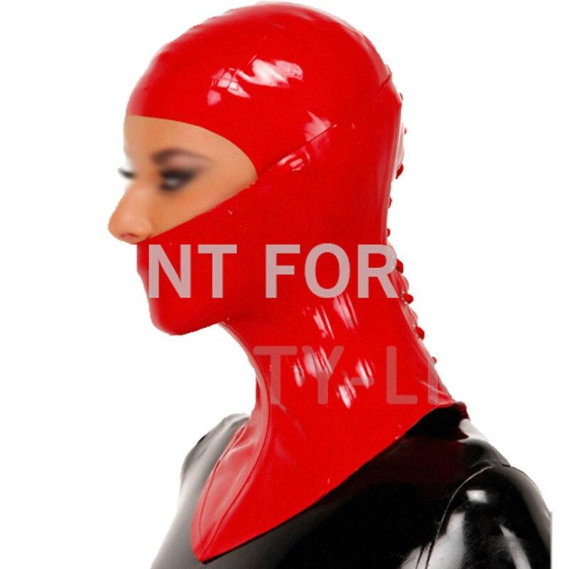 Latex cou corset et capot fetish masque ouvert yeux nez bouche sexy unisexy 100% naturel et la main new à venir
