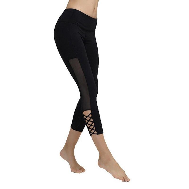 c32270030697a3 Klorify Women's Crisscross Side Mesh Strappy Cutout Leggings Workout Capri  Yoga Pants on Aliexpress.com   Alibaba Group