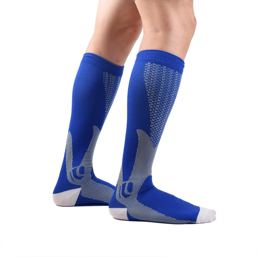 Men's Socks Men Professional Compression Socks Breathable Leg Slimming Stockings Anti-fatigue Boost Blood Circulation Matching In Colour