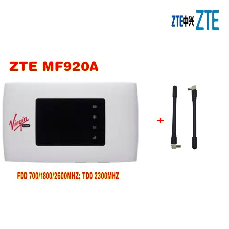 NEW ZTE MF920A 4G LTE 3G Mobile WiFi Wireless Hotspot Router Modem UNLOCKED plus 2 pcs antenna zte mf823d driver free modem 4g lte dongle unlocked black