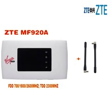 NEW ZTE MF920A 4G LTE 3G Mobile WiFi Wireless Hotspot Router Modem UNLOCKED plus 2 pcs antenna