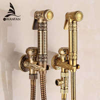 Bidet Faucets Single Cold Brass Wall Handheld Hygienic Shower Spray Head For Wash Bathroom Toilet Car Rinse Pet Airbrush 8891