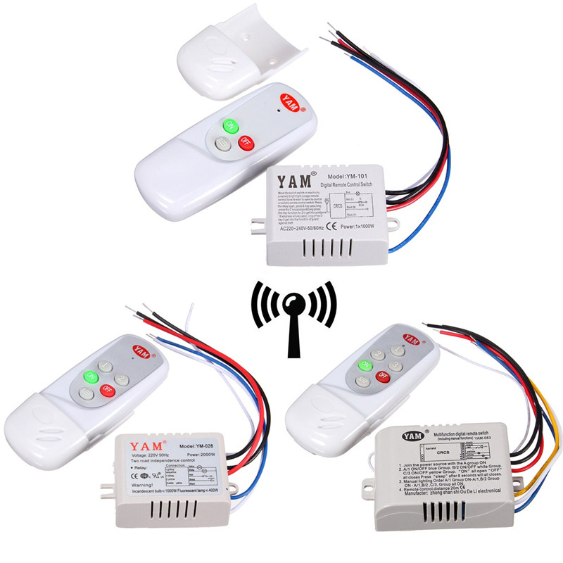 220V 1/2/3 Ways Wireless ON/OFF/SLEEP Lamp Remote Control Switch Receiver Transmitter 50Hz Best Promotion 1pcs 1 2 3 4 ways on off wireless light lamp remote control switch receiver transmitter white 300w 180 240v