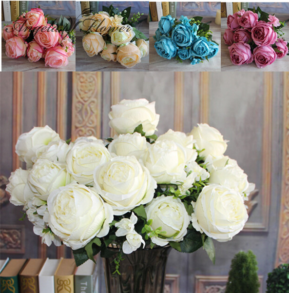 Buy hi q 1 bouquet 13 heads 5 colors for Angela florist decoration