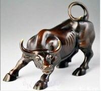 Big Wall Street Bronze Fierce Bull OX Statue
