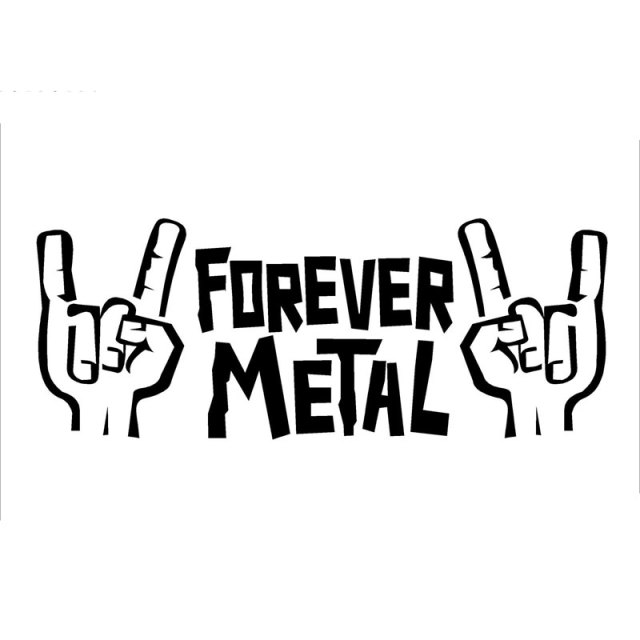 20cm7 6cm rocker hands forever metal sign of the horns car vinyl sticker design