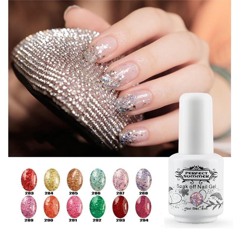 Perfect Summer Glitter Gel Nail Polish 12 Pcs Wholesale