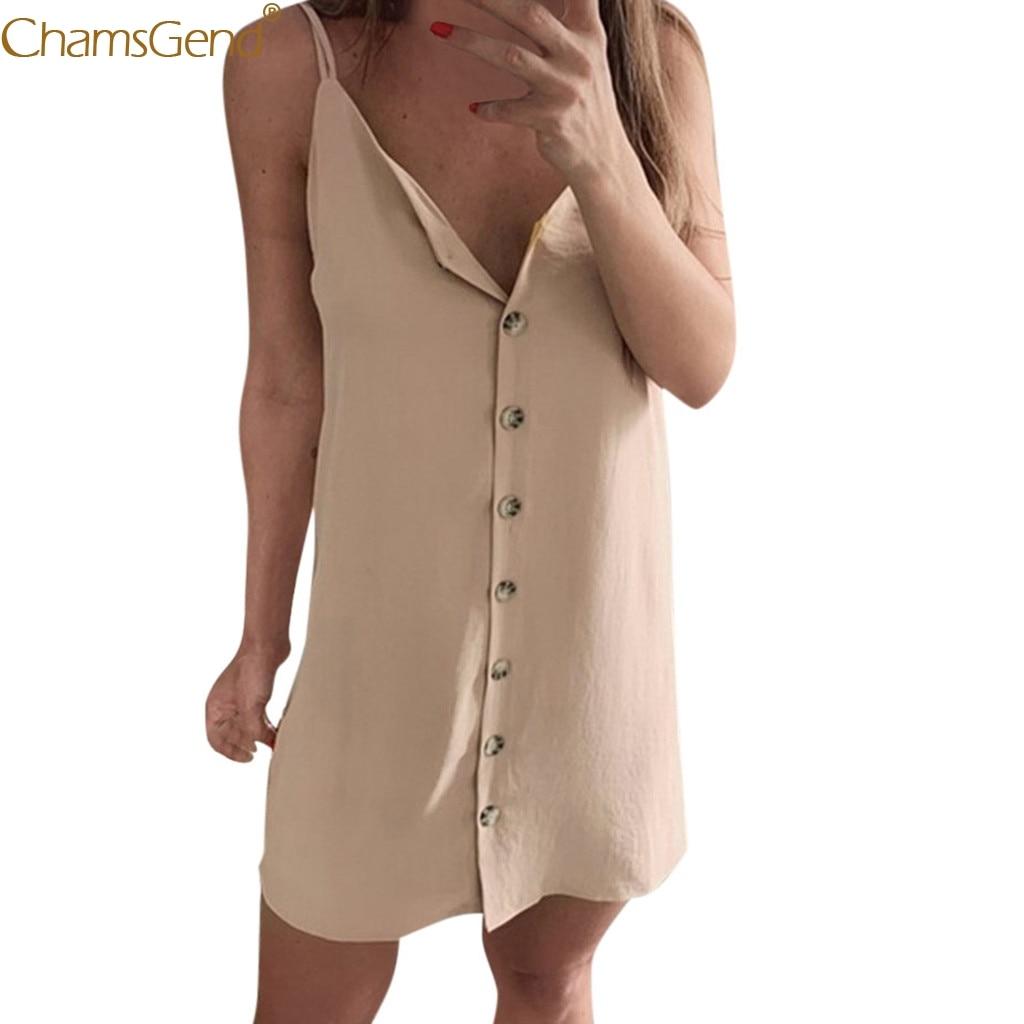 Sexy Buttons Opening V-Necsummer dresses women 2019 summer dress girl dresses woman party night mini Chiffon Bandage Mar