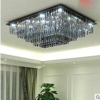 Ash кристалл лампы прямоугольная гостиная освещение современный минималистский светодиодный потолочный светильник спальня ресторан лампы