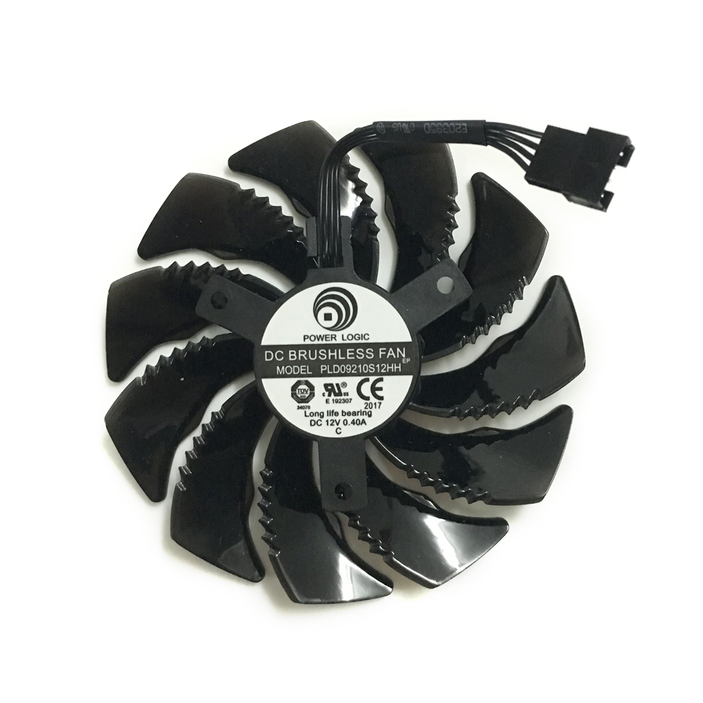 PLD09210S12HH 87mm Graphics Card fan GPU Cooler For GIGABYTE GV-N1060D5/N1050WF2OC/N105TWF2OC/N105TG1 GAMING Card As Replacement new original graphics card cooling fan for gigabyte gtx770 4gb gv n770oc 4gb 6 heat pipe copper base