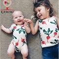 Kamimi 2017 Zanahoria Bebé Impreso Estilo Mamelucos del Mameluco de 0-3 Y Niño Recién Nacido niño Niña Vestir Bebés Niños mono de Escalada A370