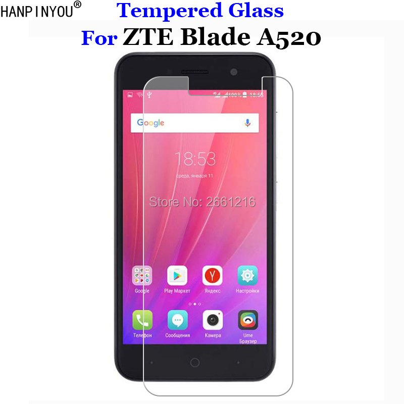 For ZTE Blade A520 Tempered Glass 9H 2.5D Premium Screen Protector Film For ZTE Blade A520 A 520 BA520 5.0For ZTE Blade A520 Tempered Glass 9H 2.5D Premium Screen Protector Film For ZTE Blade A520 A 520 BA520 5.0