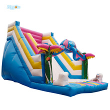 Inflatable Biggors Colorful Inflatable Dry Slide Inflatable Happy Slide For Sale