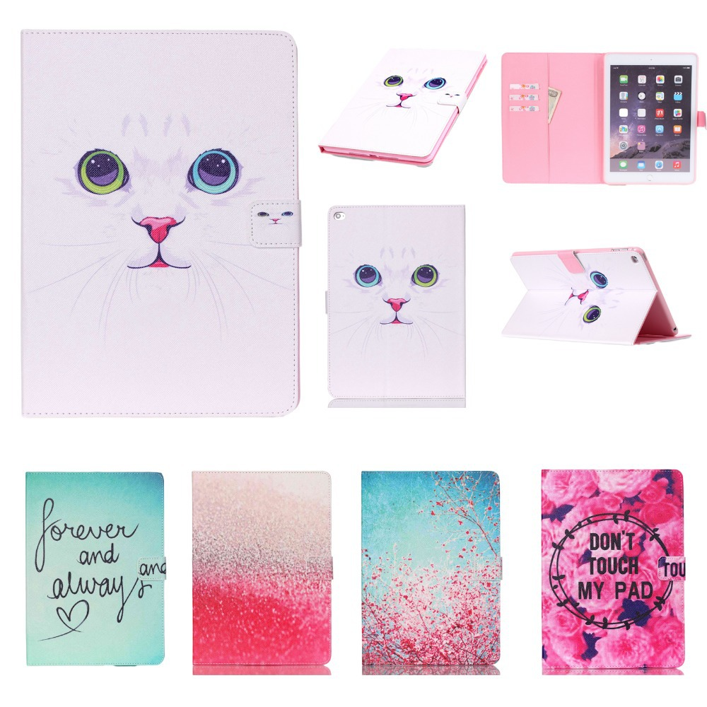 New For Apple iPad Air 2/iPad 6 (2014) Case Flip Smart Stand for Kids iPad Case Cover w/Screen Protector Film+Stylus Pen Gift