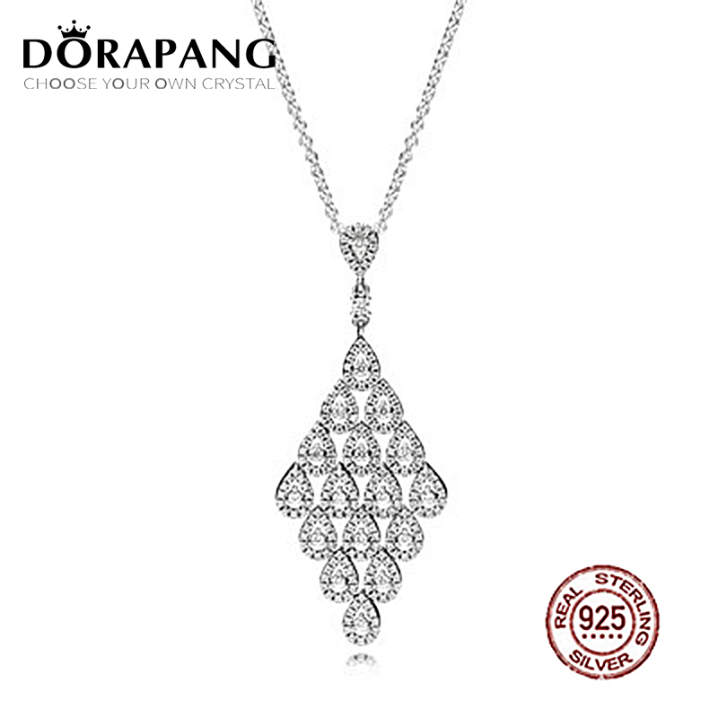 DORAPANG Cascading Glamour Necklace Has Logo 100% 925 Sterling Silver Pendant Chain Foundation Manufacturer Wholesale Free Mail dorapang 100