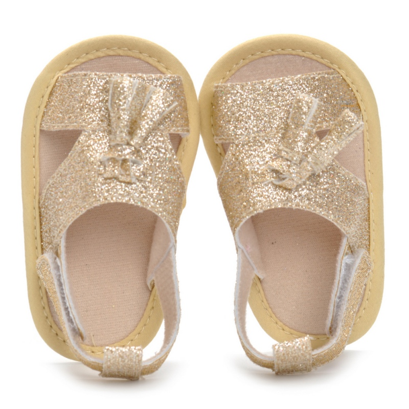 2018Summer New Gold Paste Baby Girl Shoes Baby Sandals Princess Garden Shoes Fashion Newborn Sandals