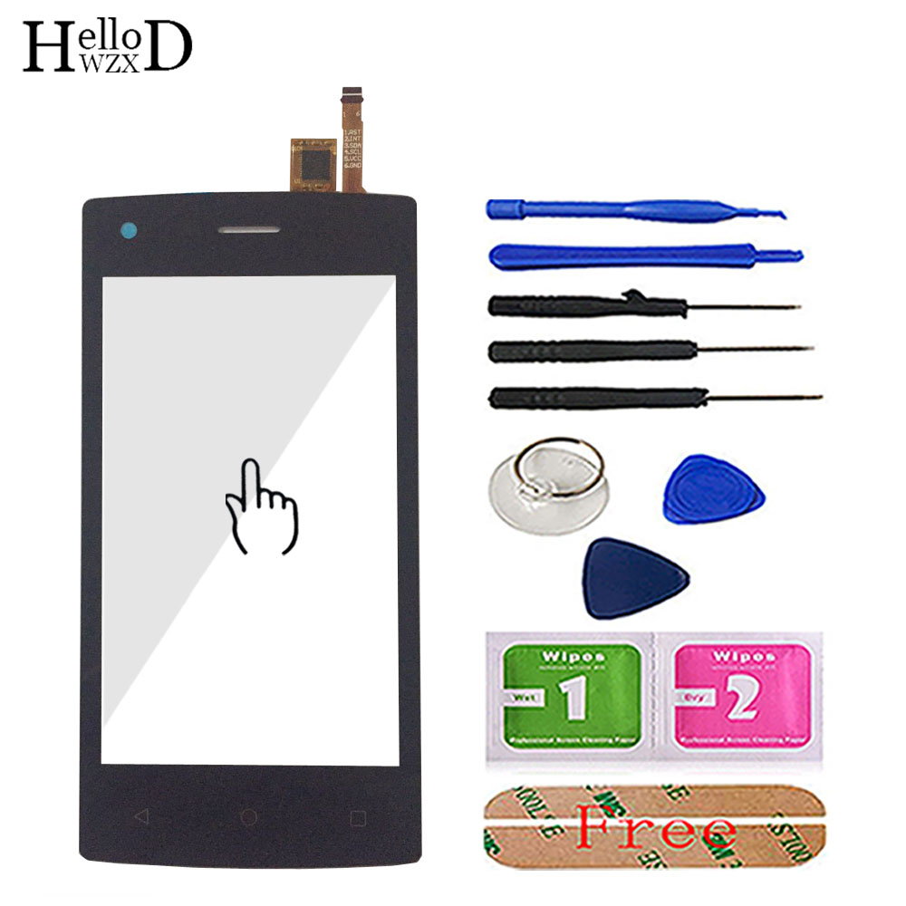 4.0'' Mobile Phone Touch Glass For Tele2 Mini 1.1 Version Front Touch Screen Glass Digitizer Panel Lens Sensor Tools Adhesive