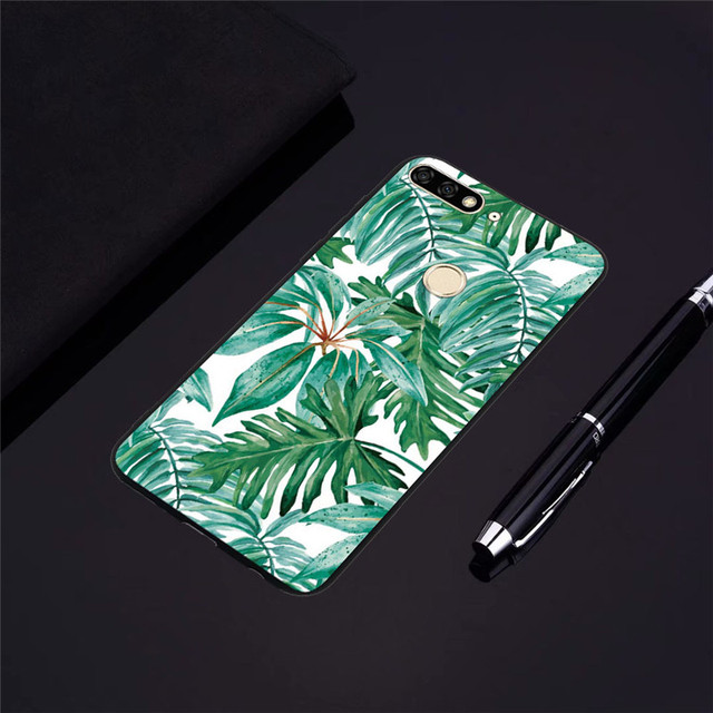 Ball Grain Soft Covers For Huawei Y6 Pro Y3 Y5 Y6 Lite 2017 Y5 Y6 Y7 Prime Y9 2018 Luxury Flowers TPU Silicone Case Fundas