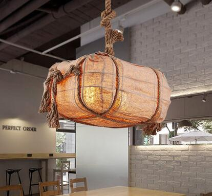 The study Pendant Lights of simple bedroom garden style balcony aisle warehouse retro iron lamp restaurant bag rope LU731365 beibehang shop for living room bedroom mediterranean wallpaper stripes wallpaper minimalist vertical stripes flocked wallpaper