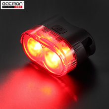 GACIRON 60 Lúmenes Inteligente lámpara de la Bici de La Cola de luz de Seguridad Advertencia de Cola Trasera Impermeable Recargable Usb Led Mountain Bike Ciclismo luz