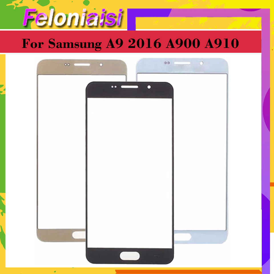 10pcs For Samsung Galaxy A9 Pro A9 2016 A900 A900F A9000 A910 A910F A9100 Touch Screen Front Panel Glass Lens Front Outer in Mobile Phone Touch Panel from Cellphones Telecommunications