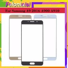 все цены на 10pcs For Samsung Galaxy A9 Pro A9 2016 A900 A900F A9000 A910 A910F A9100 Touch Screen Front Panel Glass Lens Front Outer онлайн