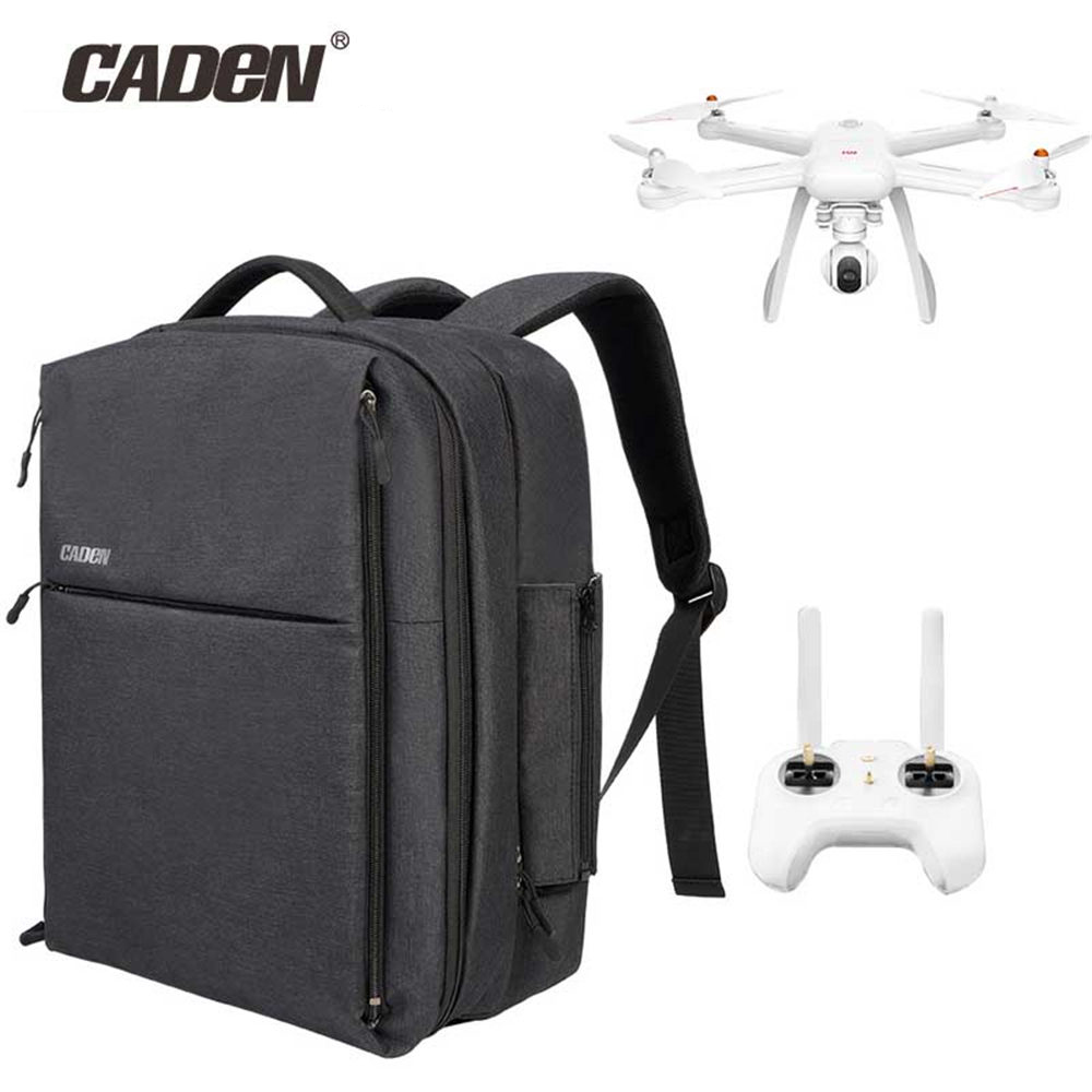 CADeN W8 Drone Bag for Xiaomi mi Drone DJI Phantom 3 Business Travel Bag Waterproof Nylon Rain Cover for Xiaomi Drone Backpack original xiaomi 4k drone bag backpack multi functional business travel backpacks with 26l for 15 6 inch computer laptop mi drone