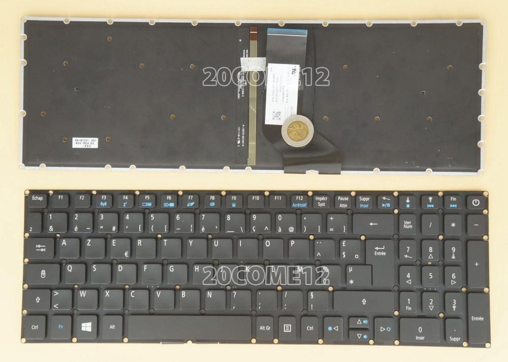 New notebook Laptop keyboard for ACER  Aspire V15 Nitro VN7-572 VN7-572G  Backlit Fr / french  layout laptop keyboard for acer silver without frame french fr v 121646ck2 fr aezqsf00110